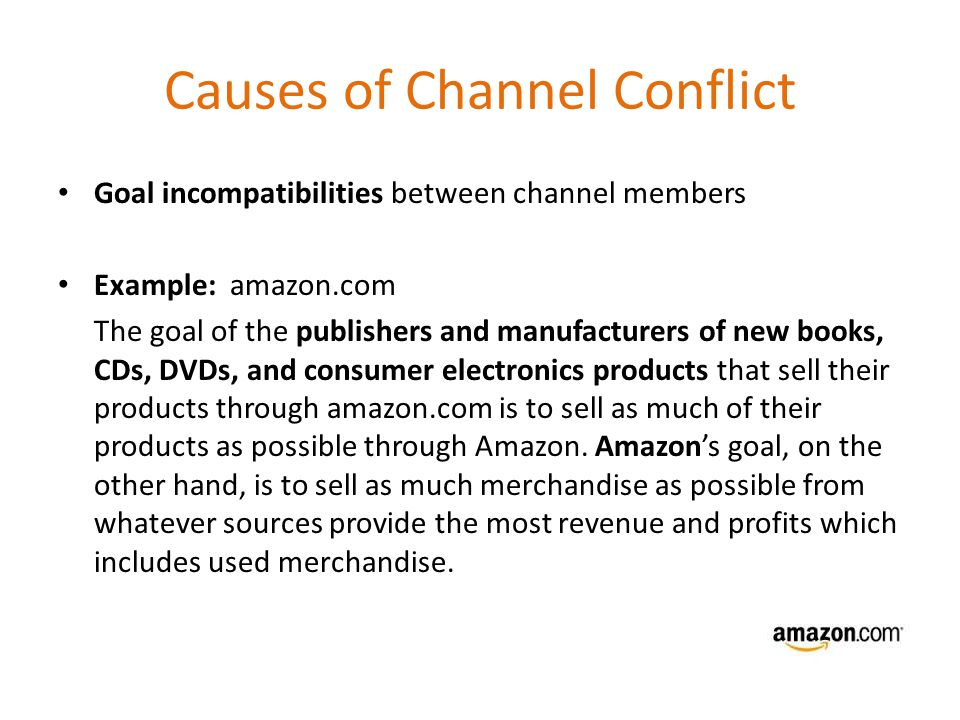 sources of channel conflict