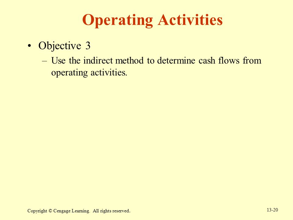 Operating Activities Objective 3