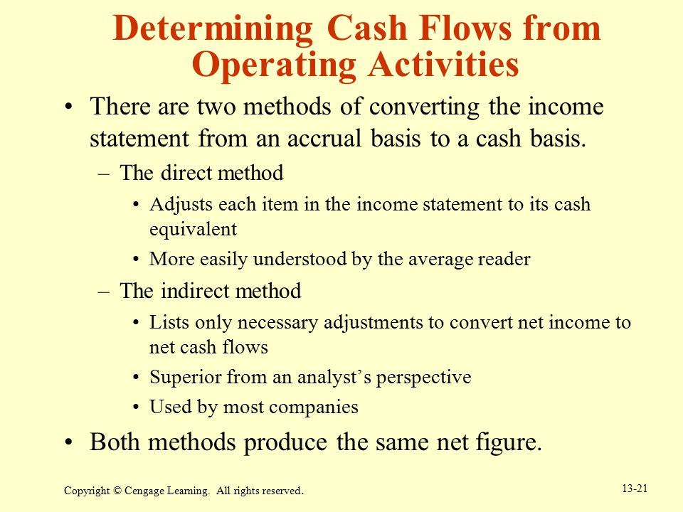 Determining Cash Flows from Operating Activities