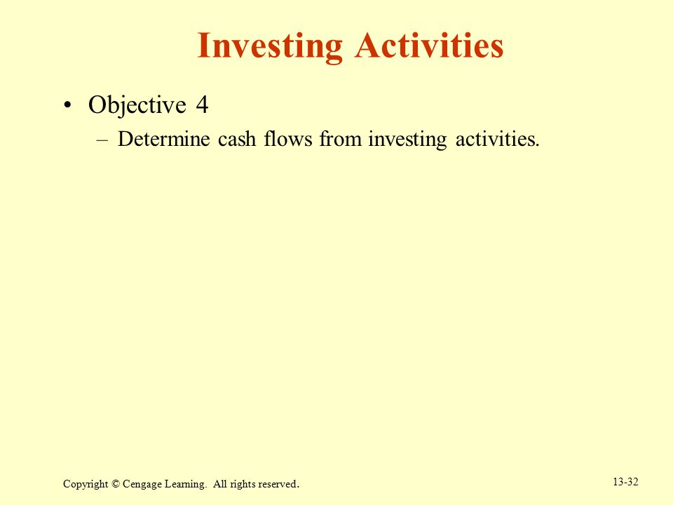 Investing Activities Objective 4