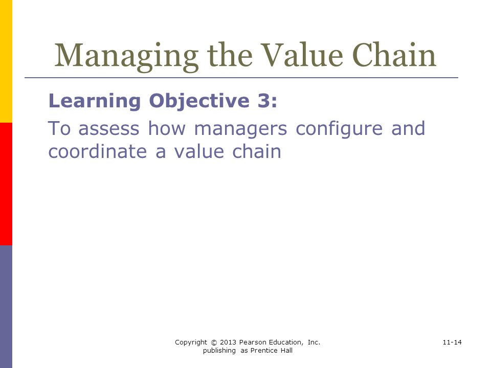 Managing the Value Chain