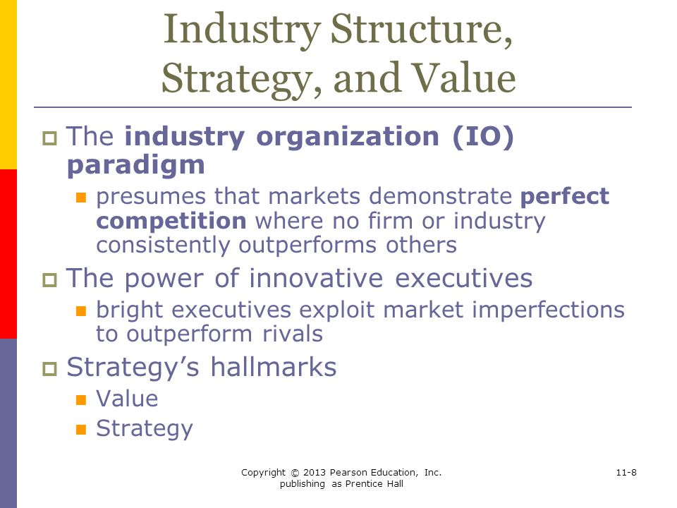 Industry Structure, Strategy, and Value