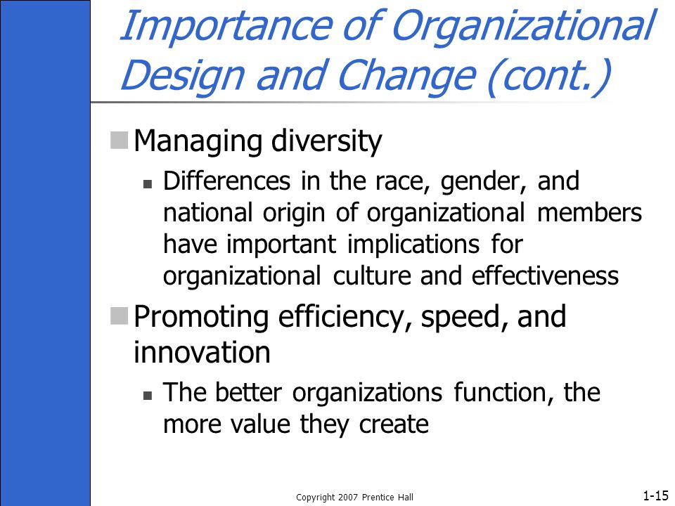 importance of organizational design