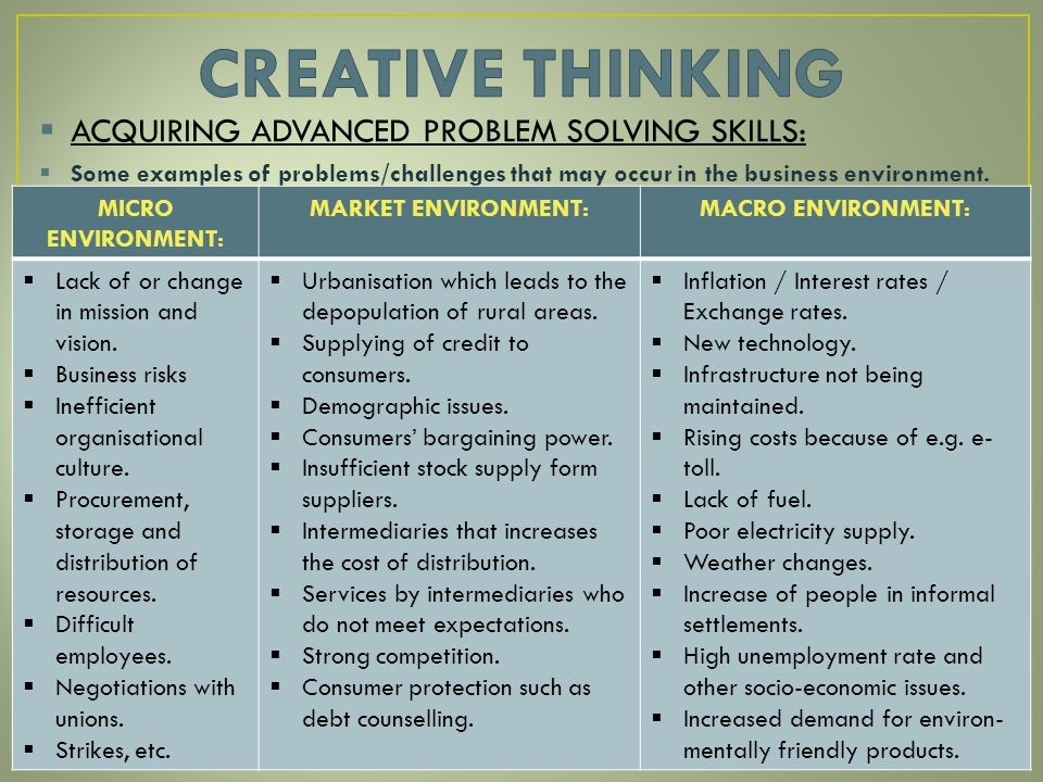 examples of problem solving skills  examples of problem