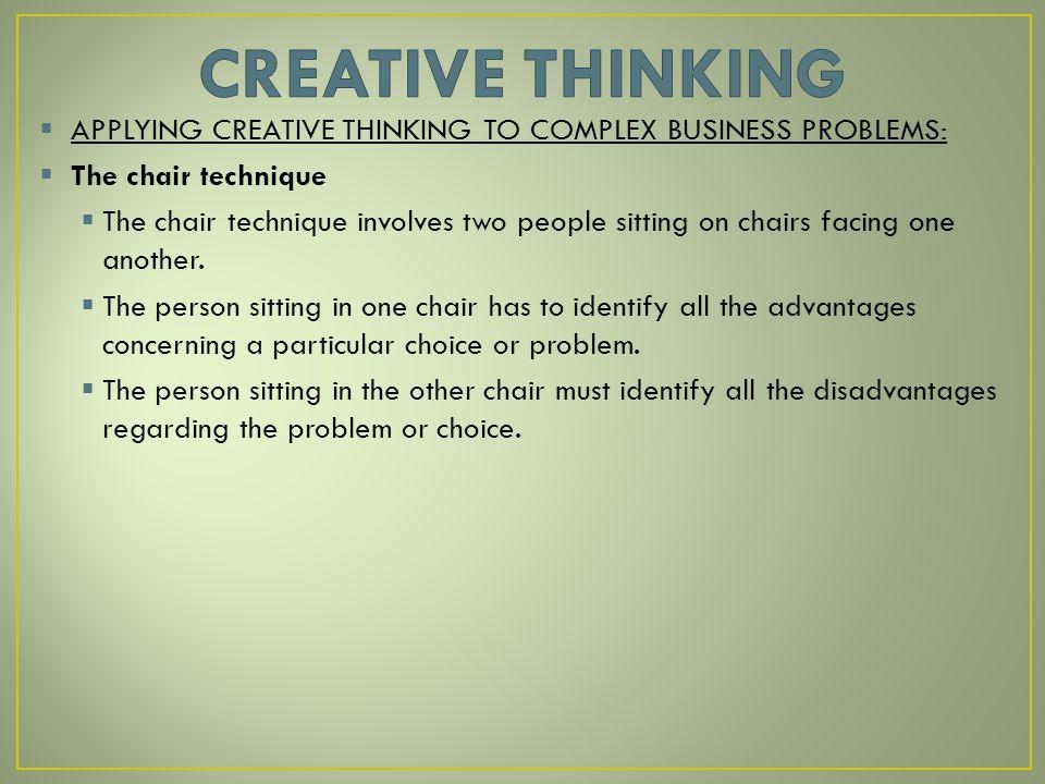 advantages of creative thinking