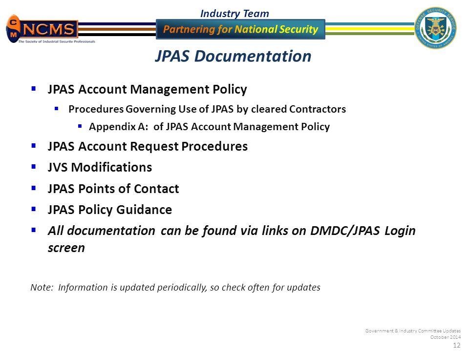 12 JPAS Documentation ...