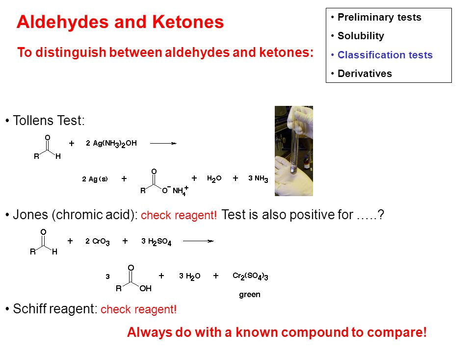 aldehydes and ketones lab report answers