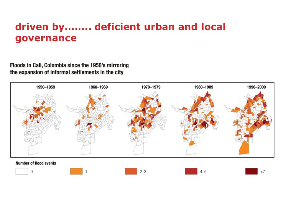 driven by…….. deficient urban and local governance