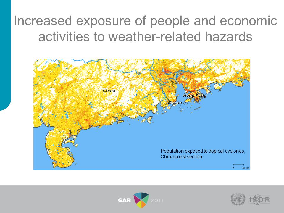 Increased exposure of people and economic activities to weather-related hazards