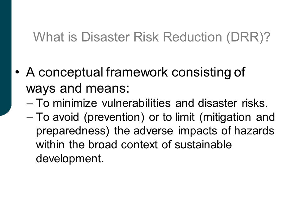 What is Disaster Risk Reduction (DRR)