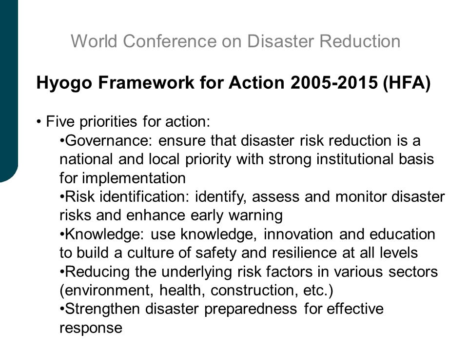 World Conference on Disaster Reduction