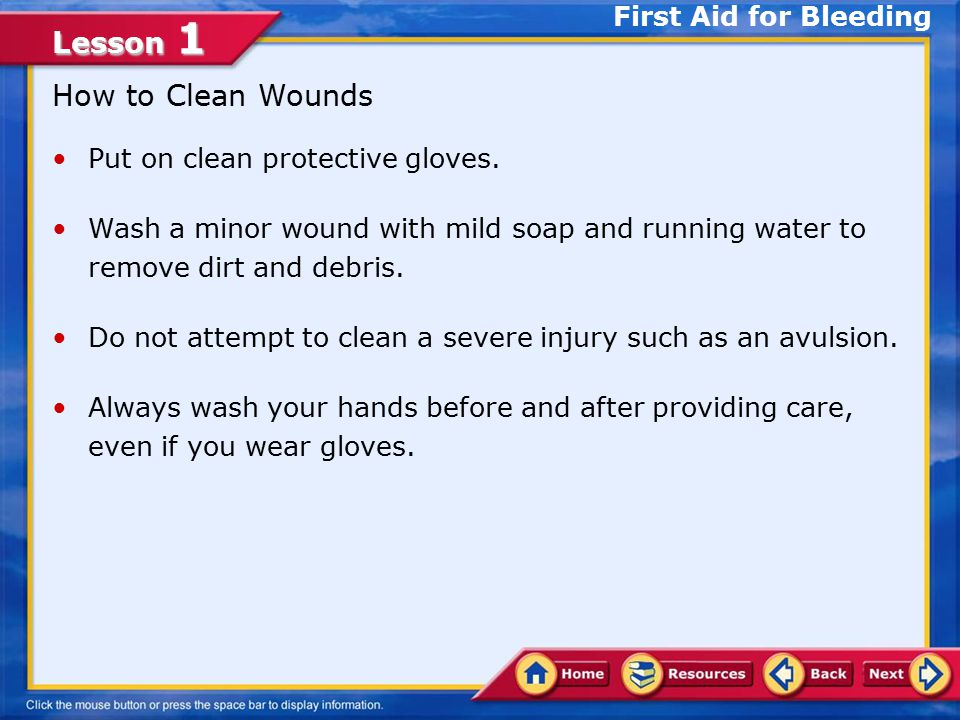 How to Clean Wounds First Aid for Bleeding