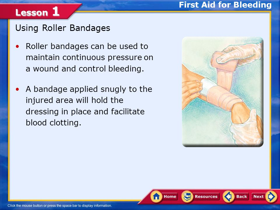 Using Roller Bandages First Aid for Bleeding