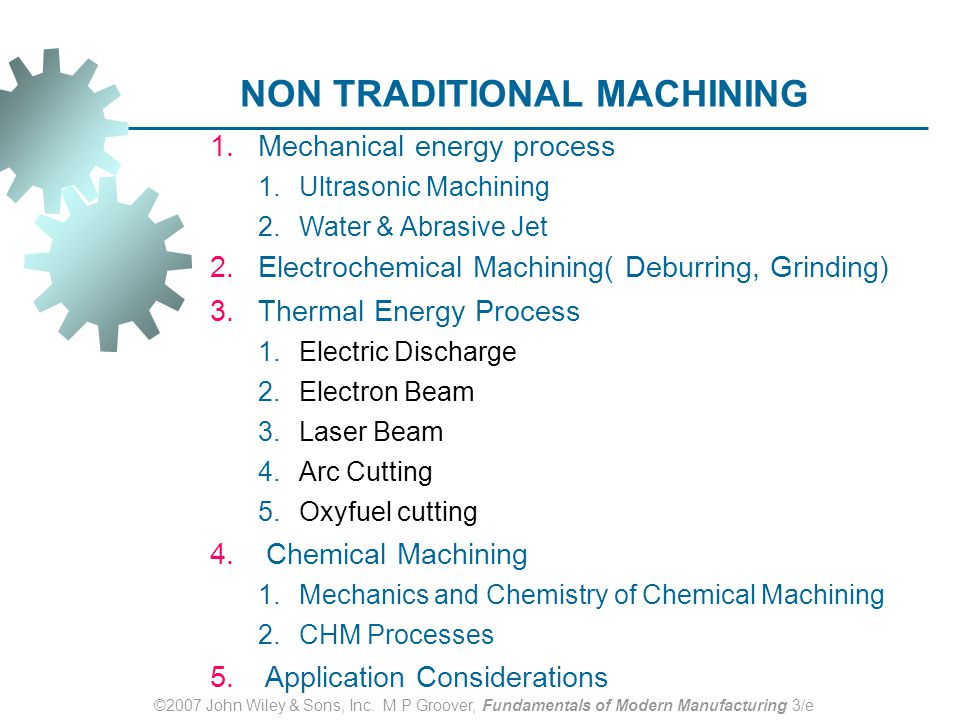 non conventional machining process slideshare