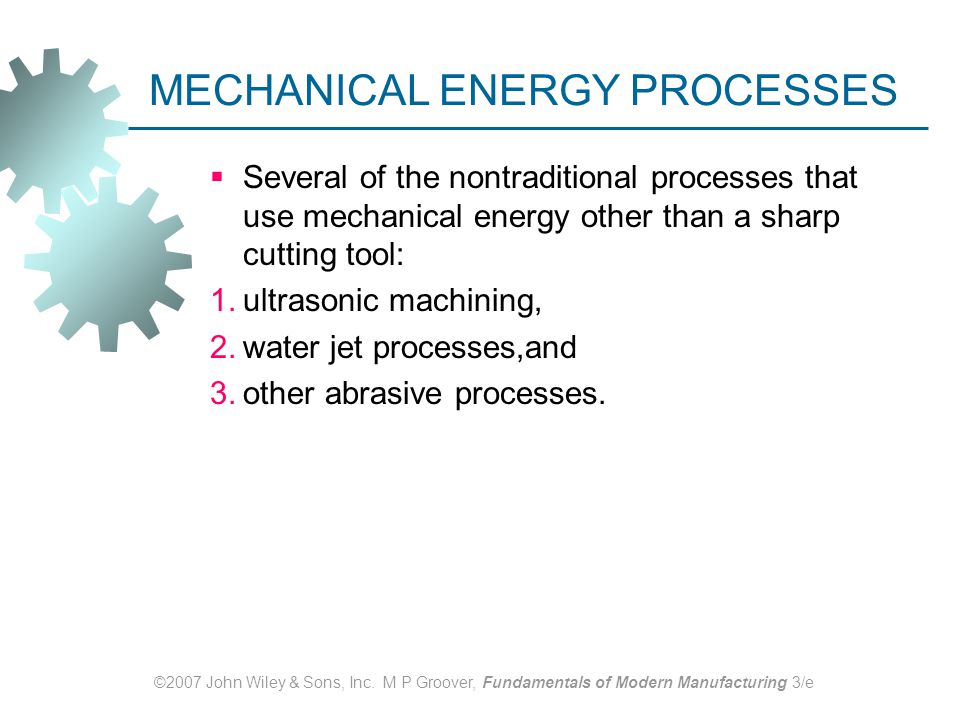 Non Traditional Machining And Thermal Cutting Process