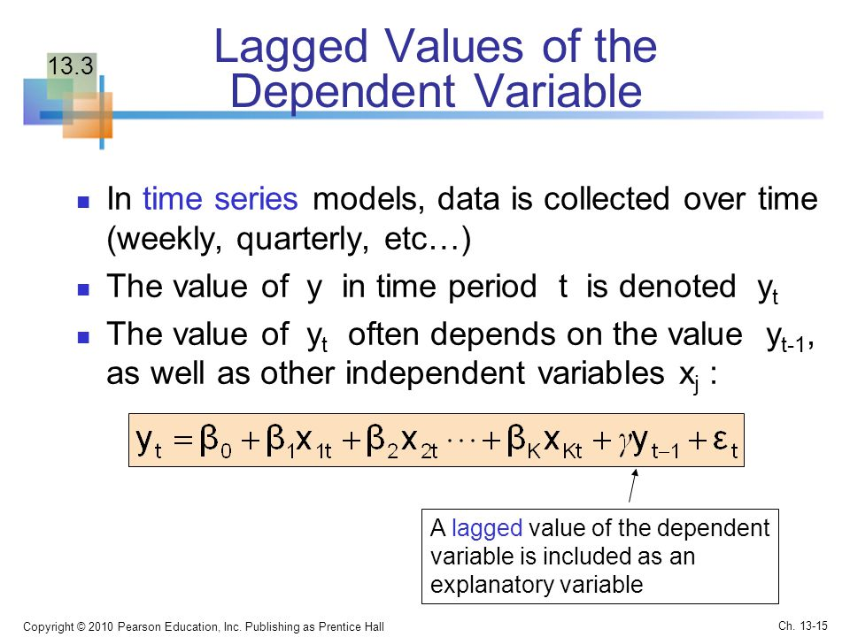Lagged Values of the Dependent Variable