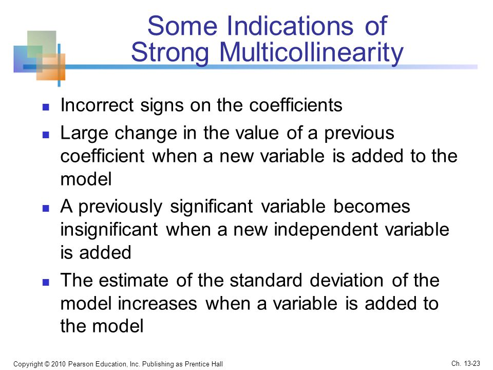 Some Indications of Strong Multicollinearity
