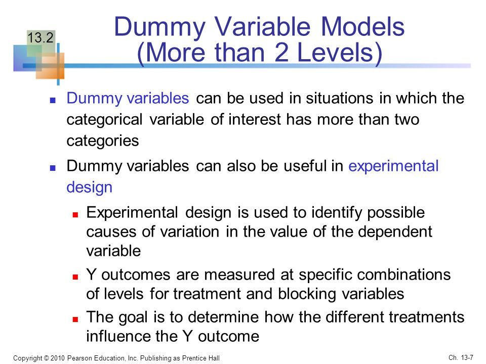 Dummy Variable Models (More than 2 Levels)