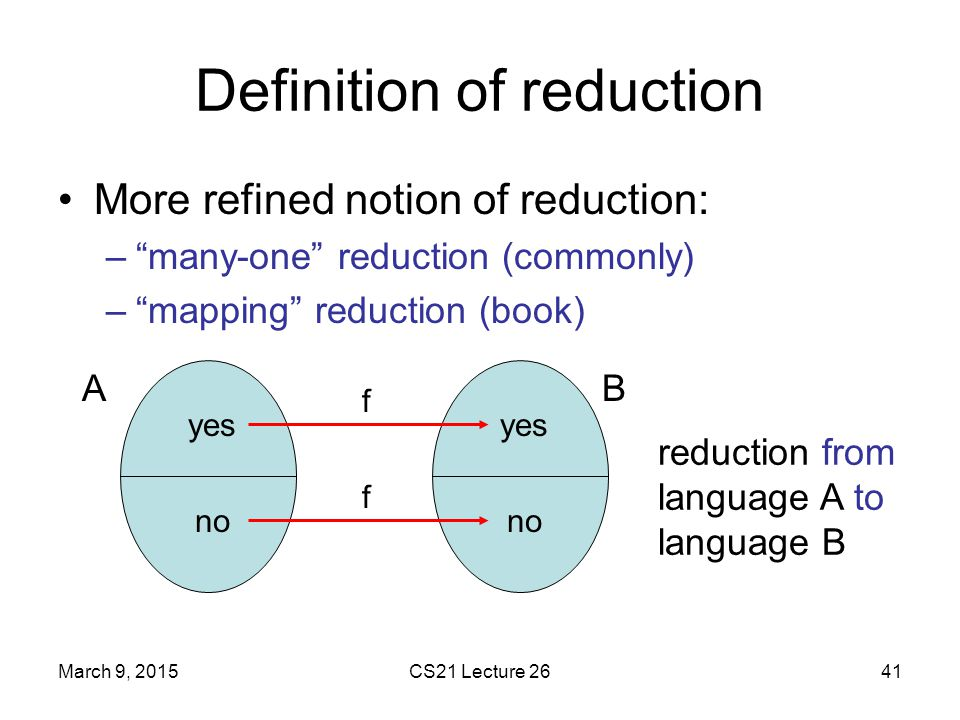 Definition of reduction