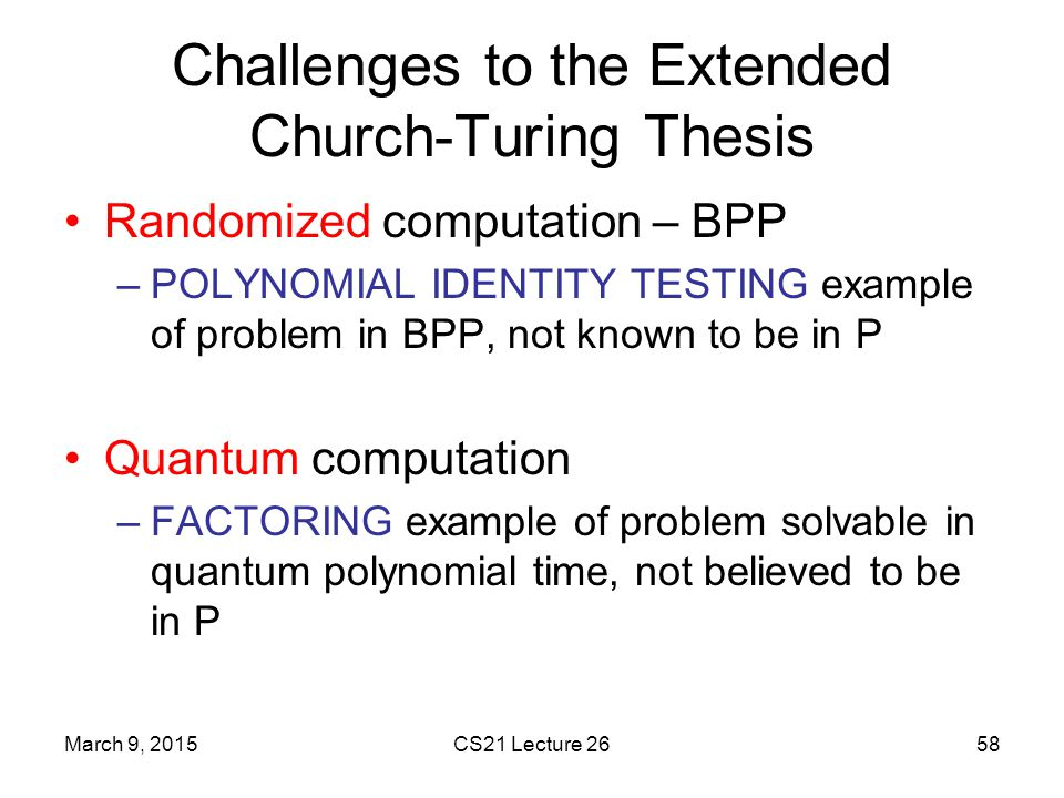 Challenges to the Extended Church-Turing Thesis