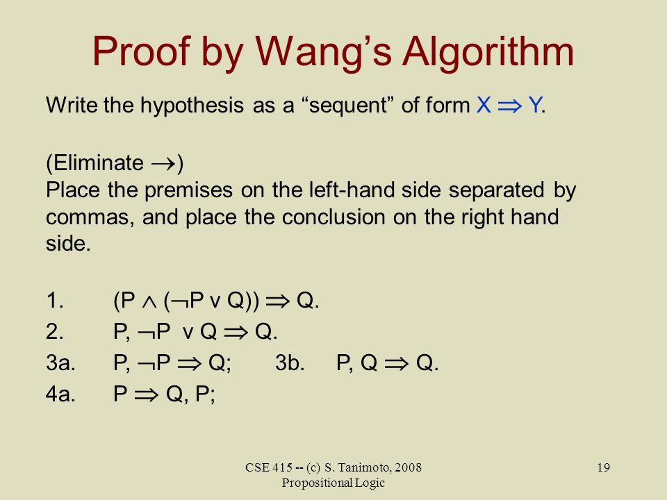 Proof by Wang's Algorithm