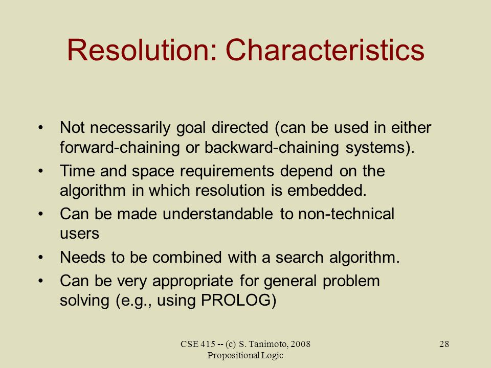Resolution: Characteristics