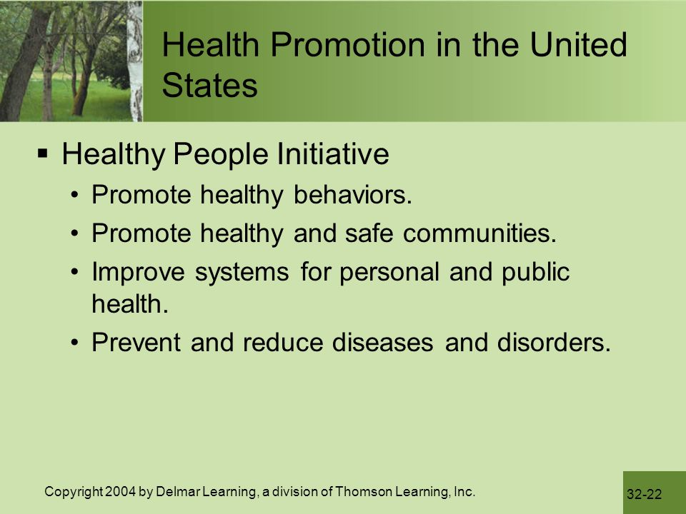 Health Promotion in the United States