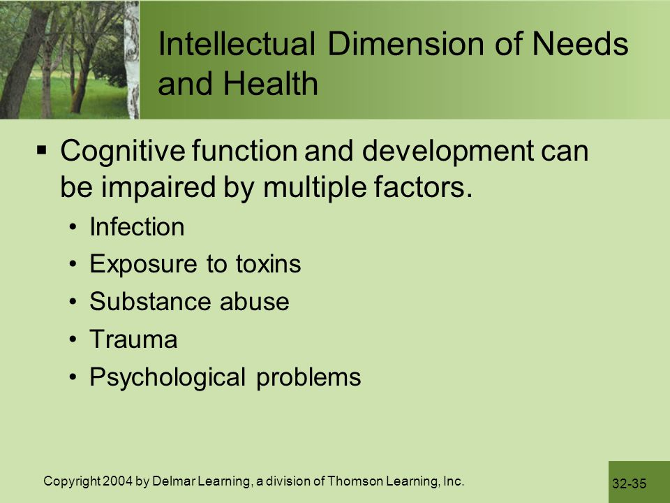 Intellectual Dimension of Needs and Health