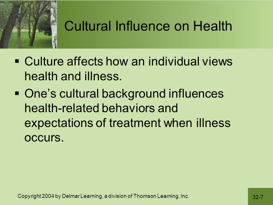 Cultural Influence on Health