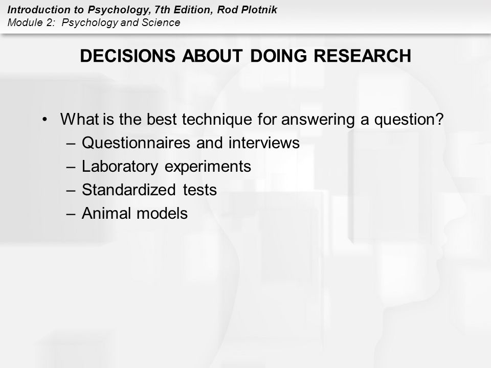 DECISIONS ABOUT DOING RESEARCH
