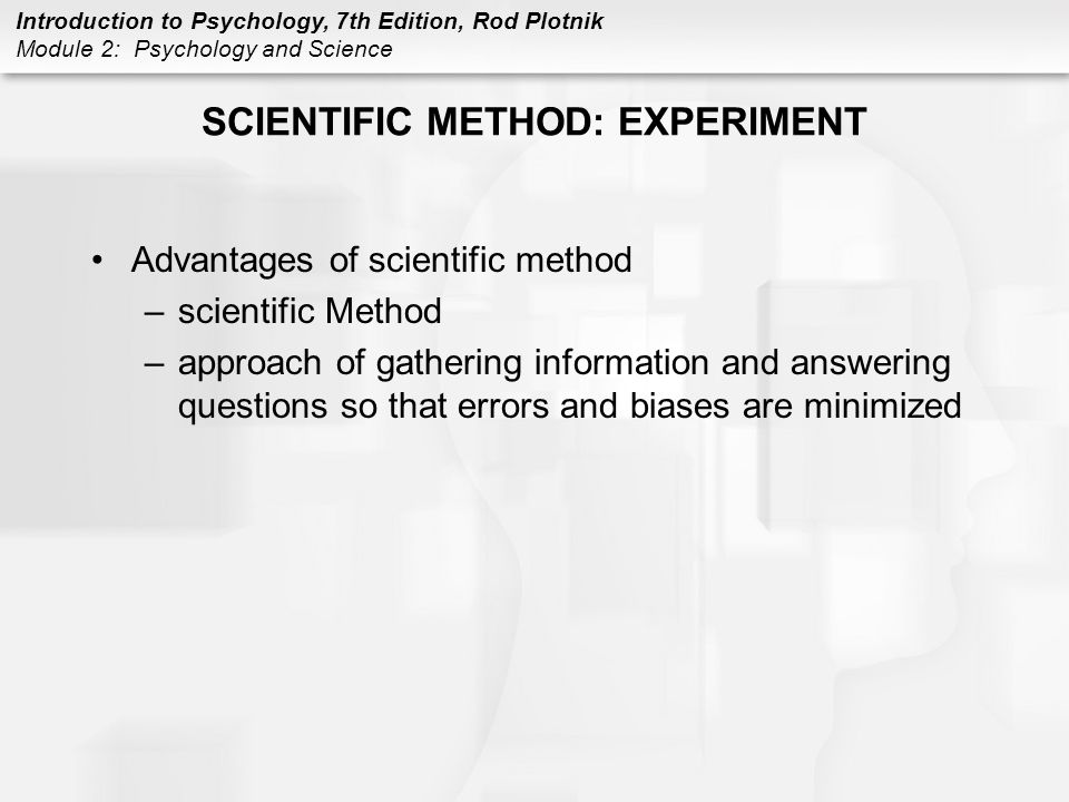 SCIENTIFIC METHOD: EXPERIMENT