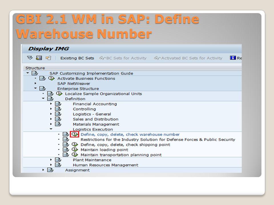 WM Organizational Structure, Master Data, Process Management