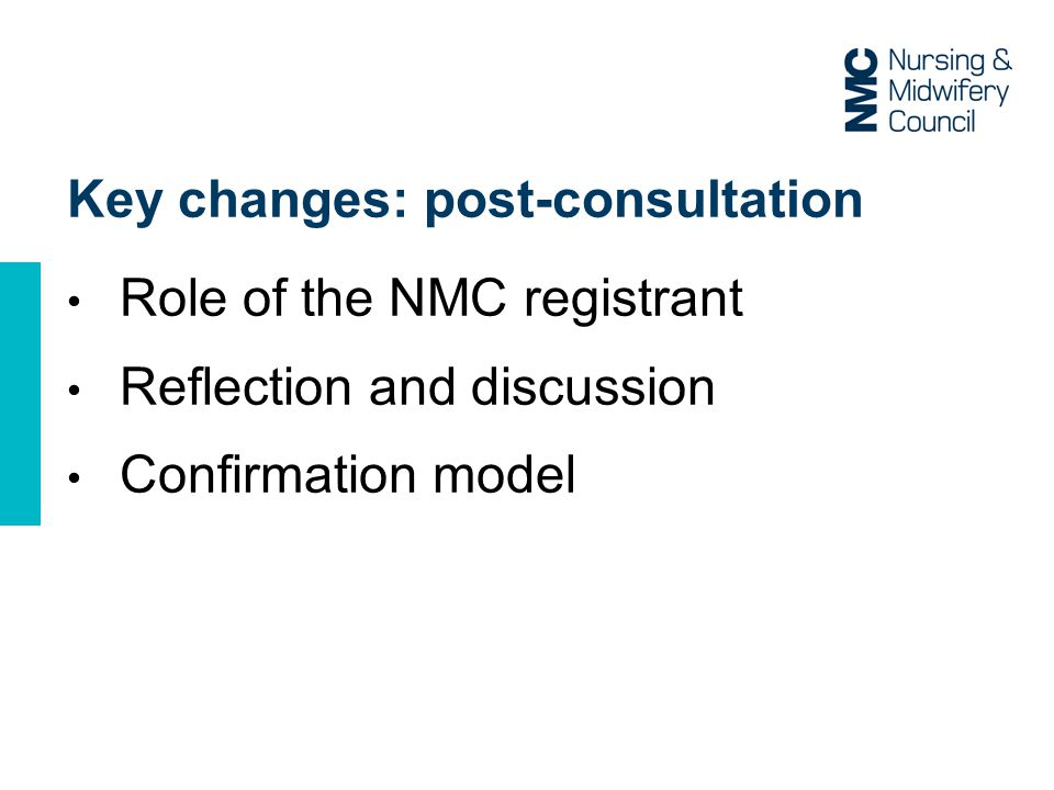 Key changes: post-consultation