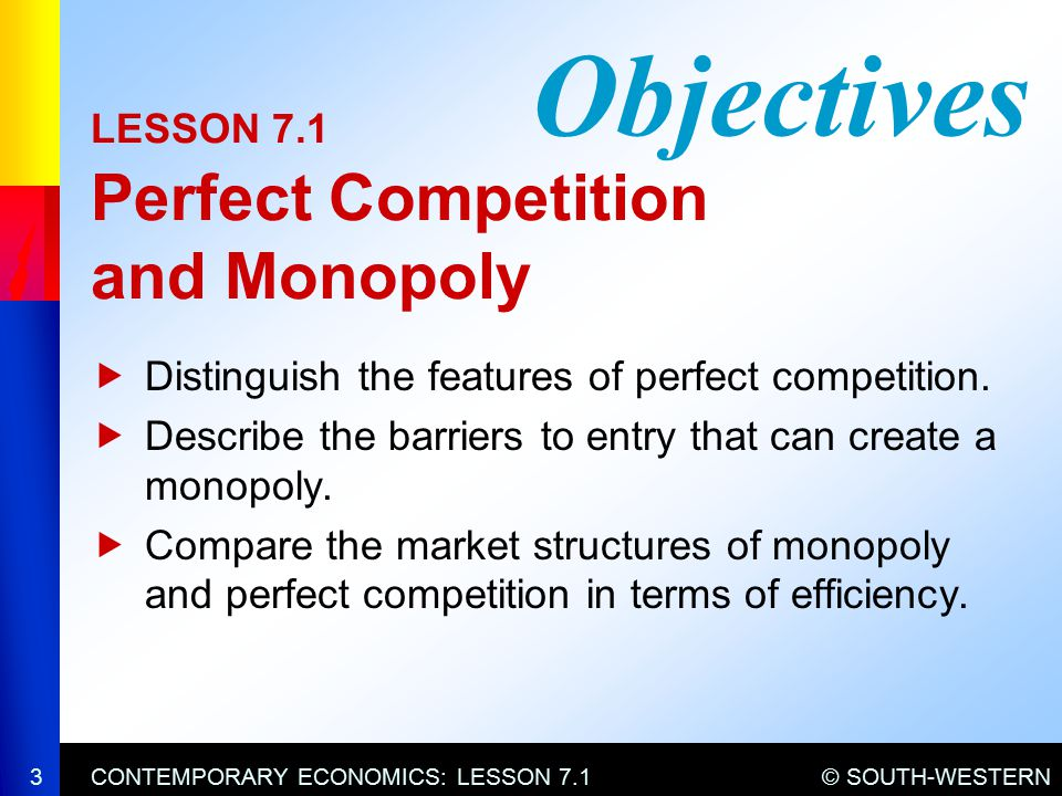 features of perfect competition and monopoly