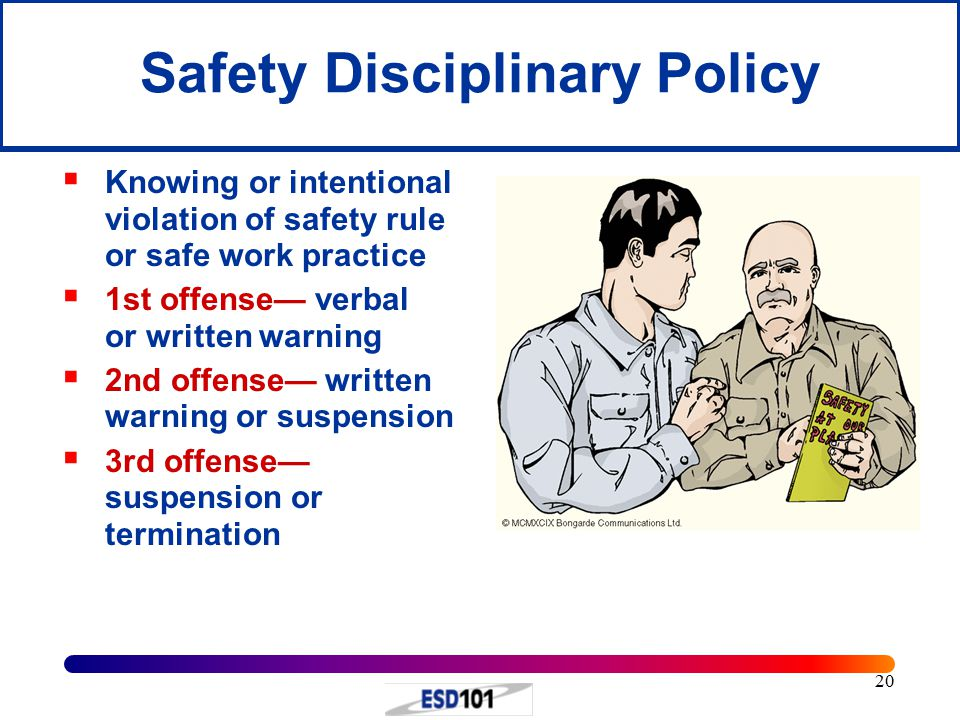 Safety Disciplinary Policy