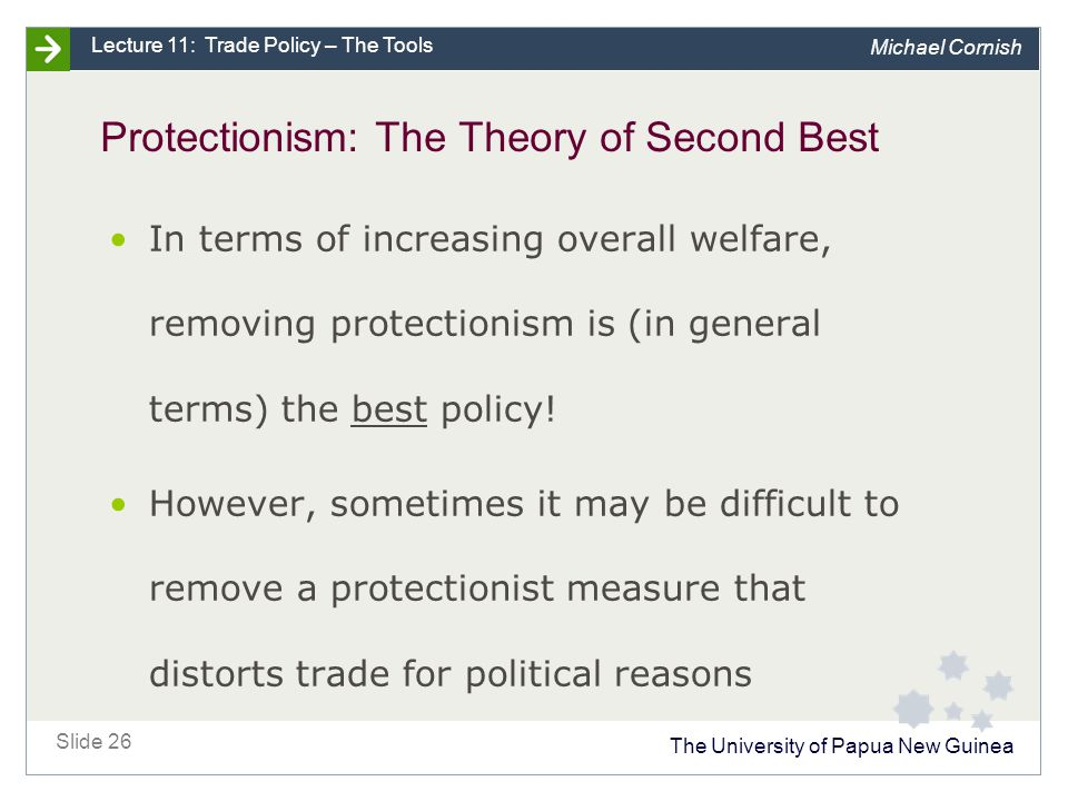 Protectionism: The Theory of Second Best