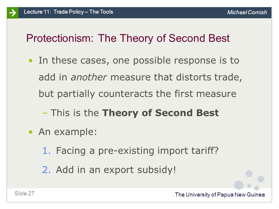 Protectionism: other measures