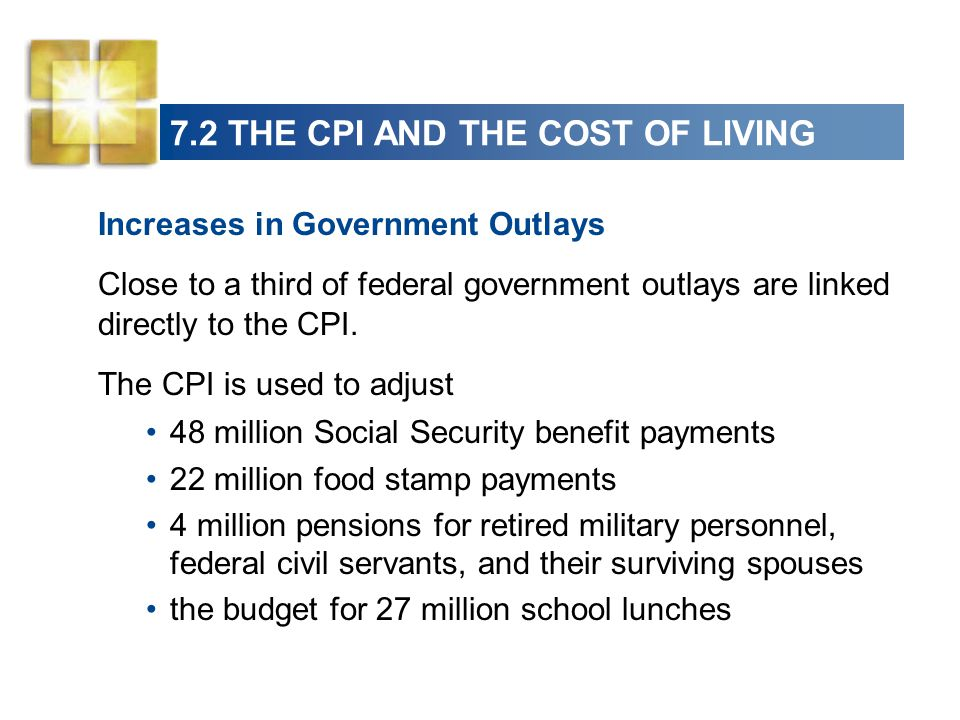 7.2 THE CPI AND THE COST OF LIVING