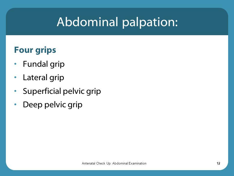 Antenatal Check Up: Abdominal Examination - ppt video online
