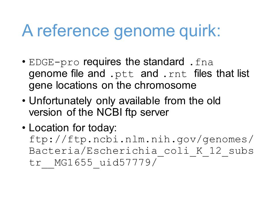 A reference genome quirk: