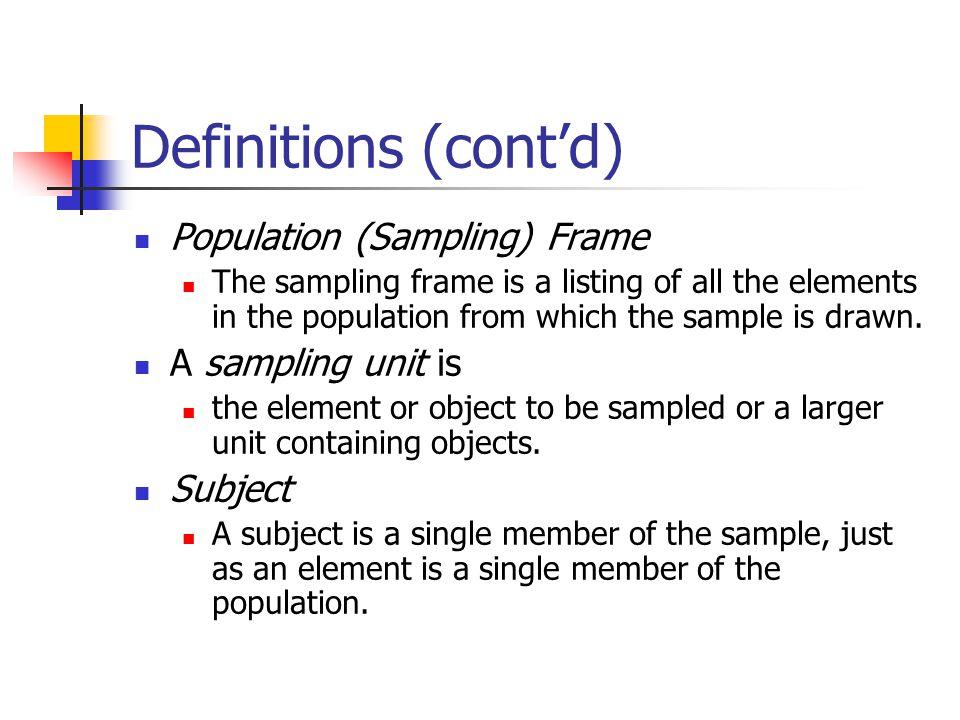 sample of sampling frame in research | Framess.co