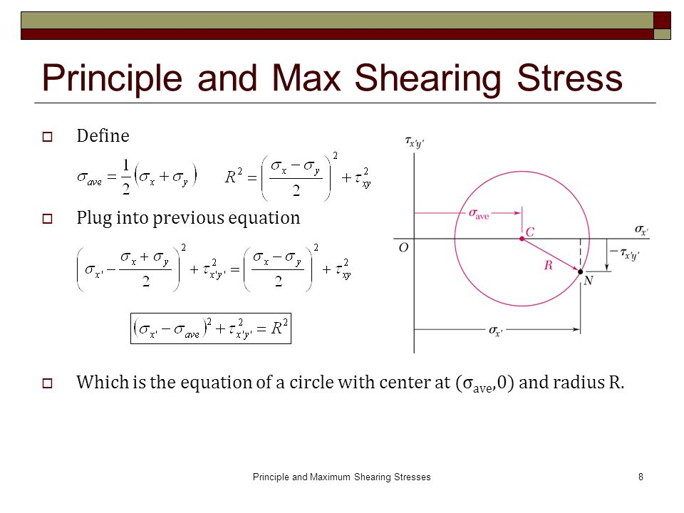 Principle and Maximum Shearing Stresses ( ) - ppt video