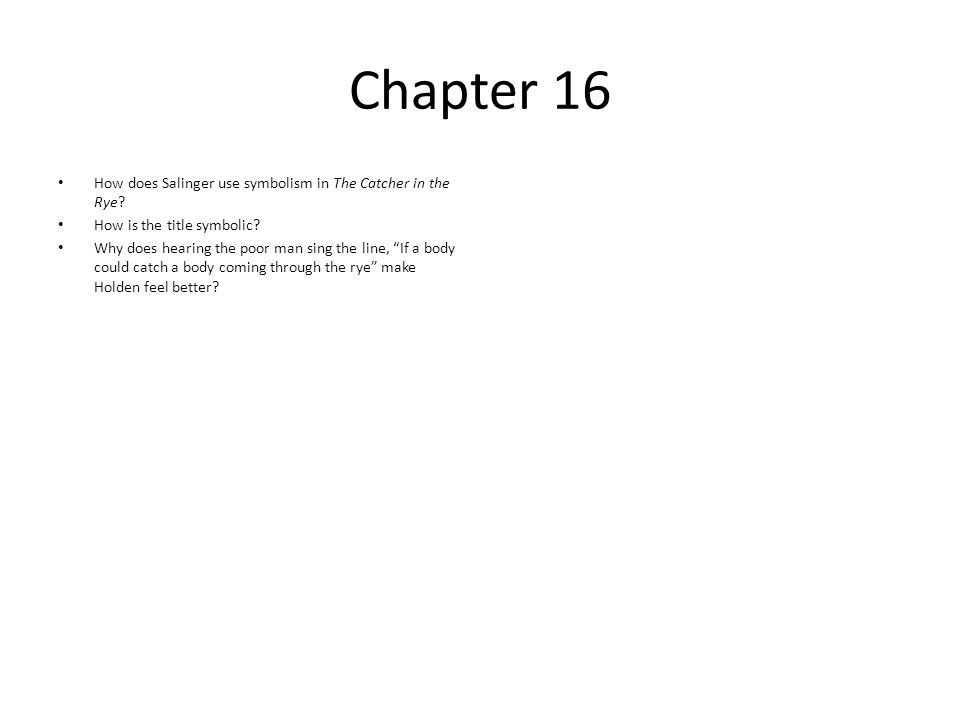 The Catcher In The Rye By Jd Salinger Ppt Video Online Download