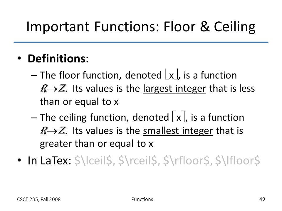 Functions Section 2 3 Of Rosen Fall Ppt Video Online Download