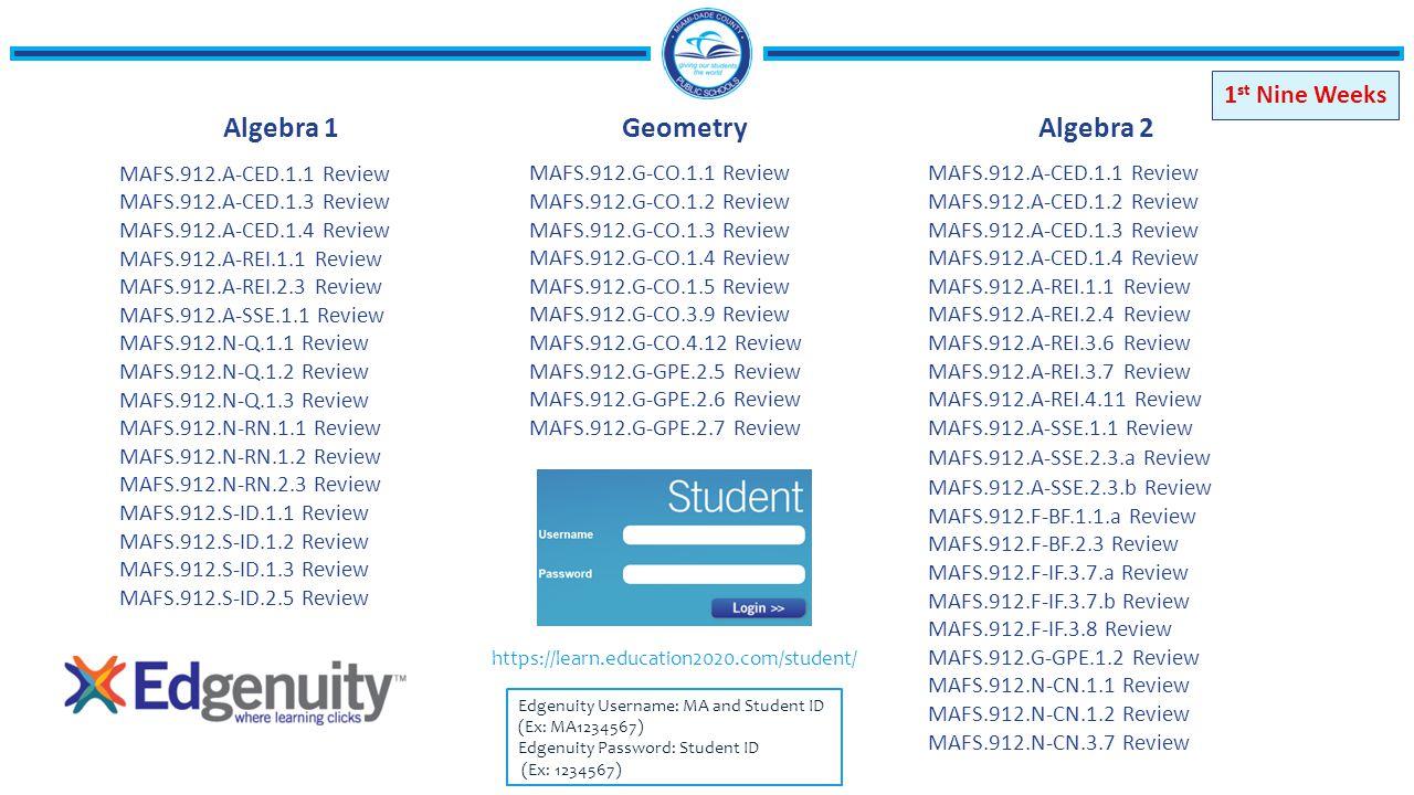 Algebra 2 Edgenuity Answers