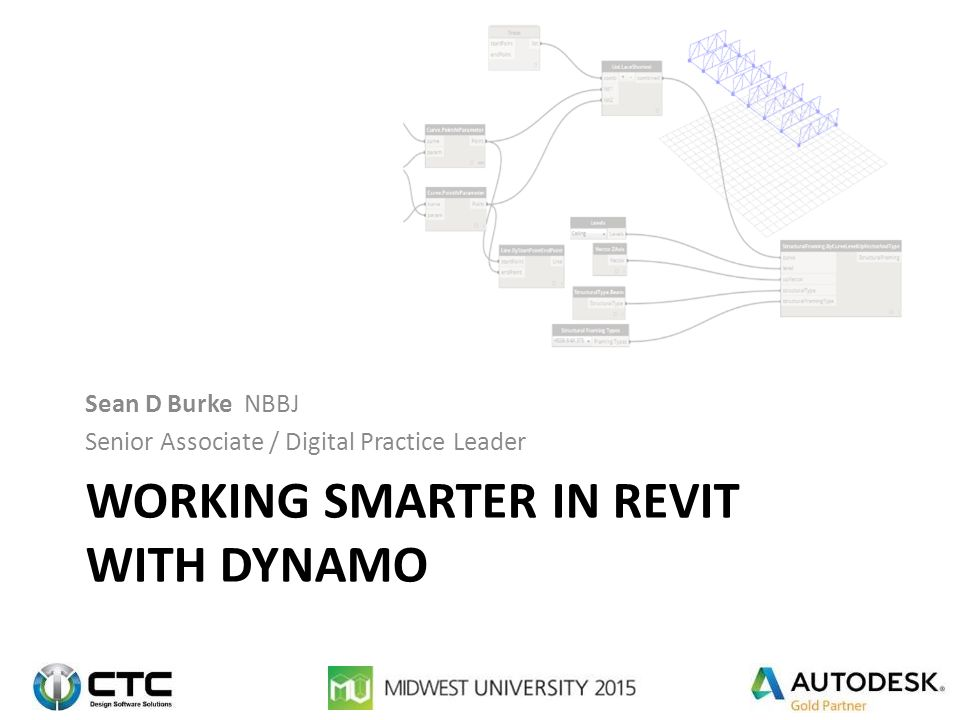 Working Smarter in Revit with Dynamo - ppt download