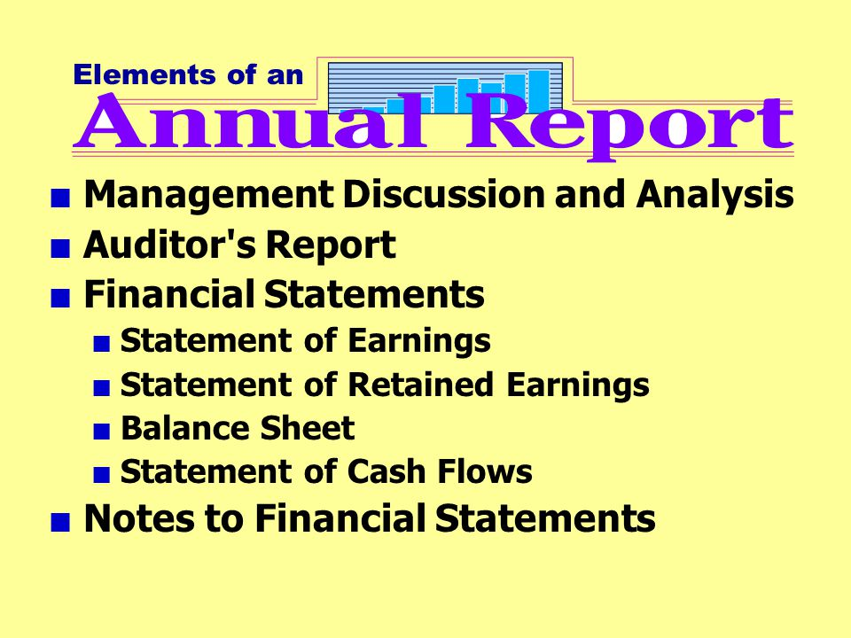 Management Discussion and Analysis Auditor s Report