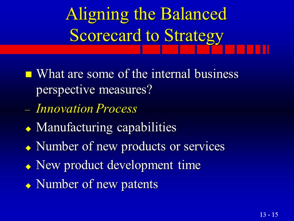 Aligning the Balanced Scorecard to Strategy