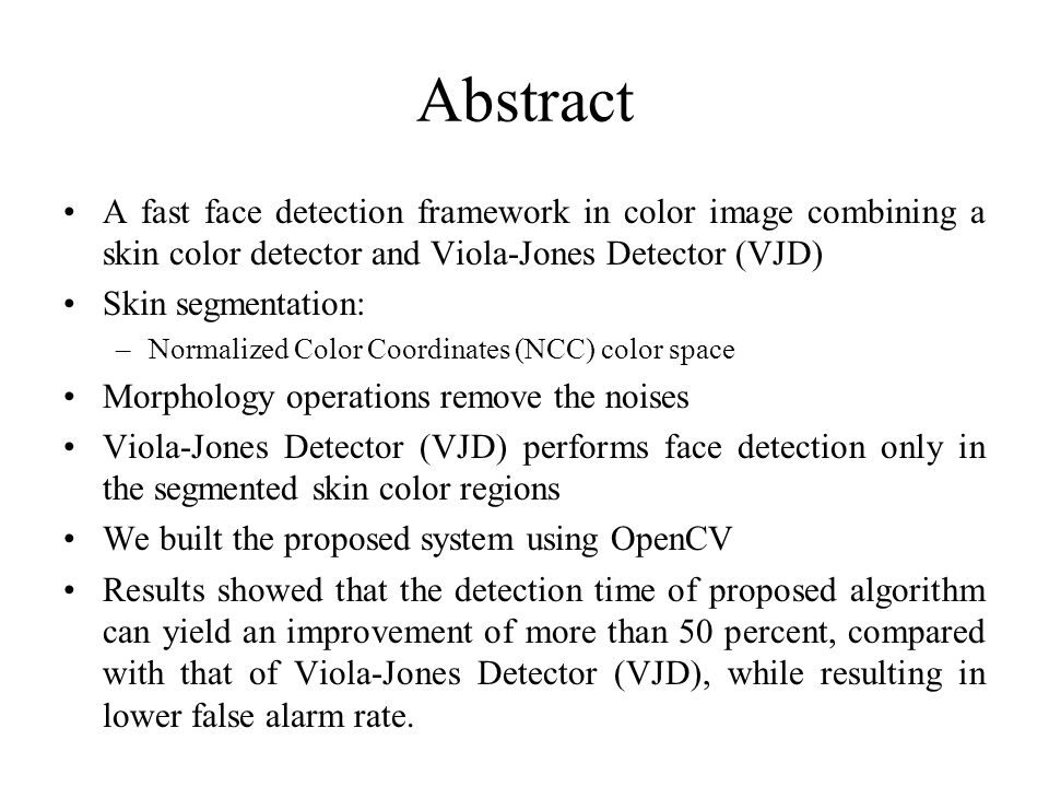 HCI Final Project Robust Real Time Face Detection Paul Viola