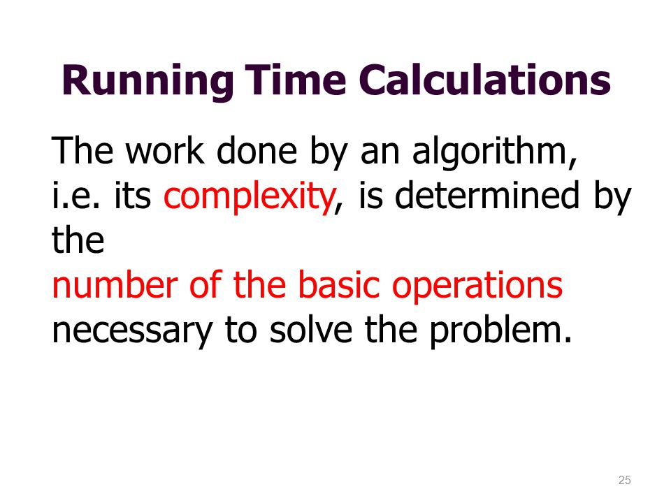 Running Time Calculations